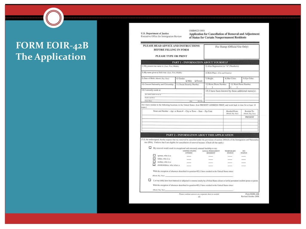 Defenses To Removal Overview Of Immigration Court Defense Ppt