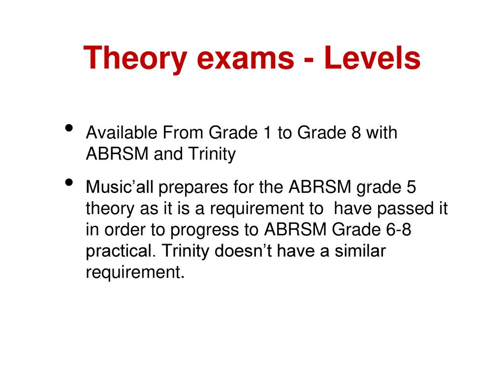 A Music'All Guide to Grade Exams - ppt download
