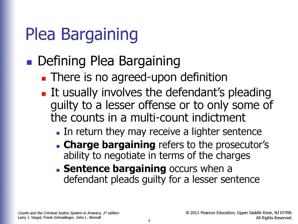 Plea Bargaining and Guilty Pleas - ppt download