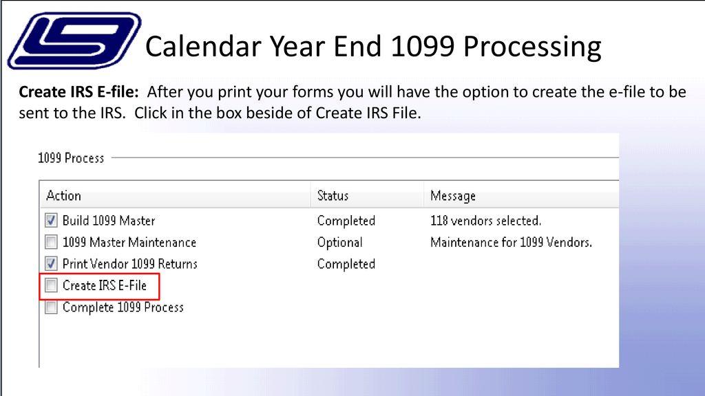 NextGen Purchasing Calendar Year End 1099 Process - ppt download