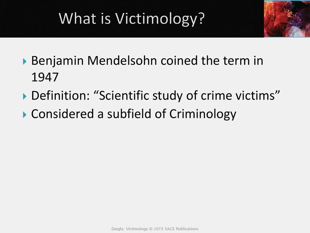 stephen schafer victimology