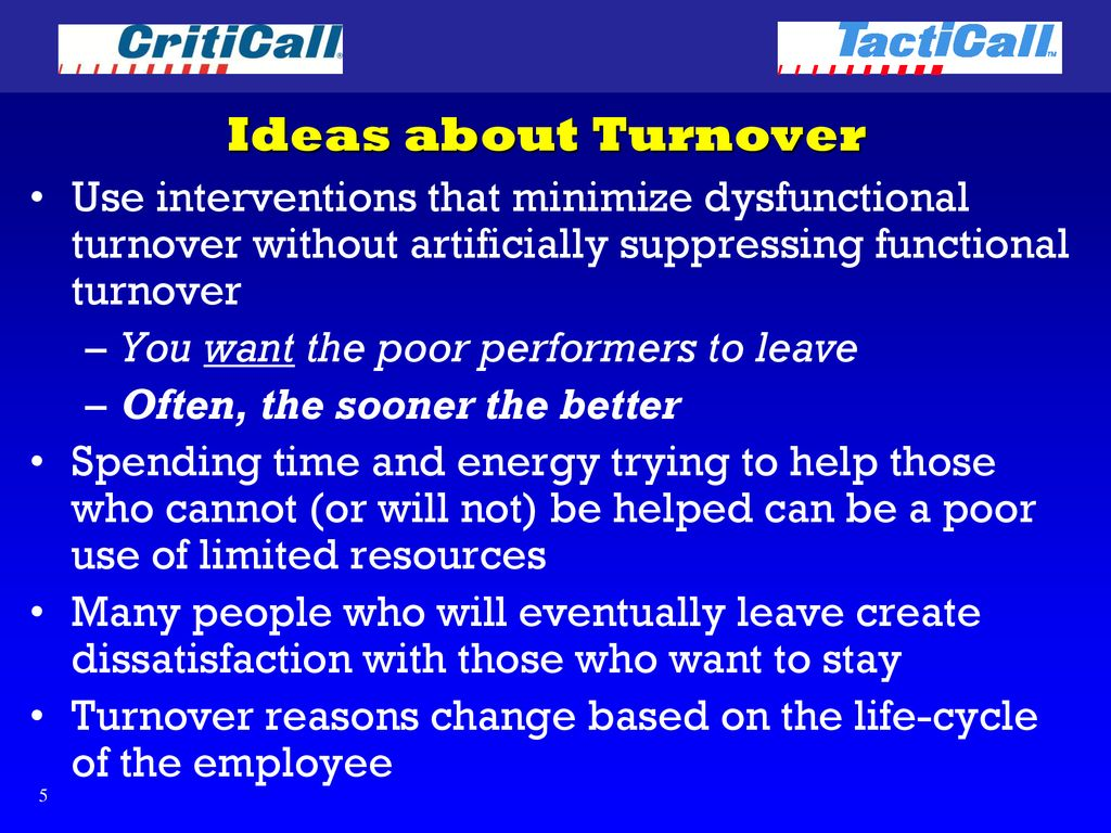 dysfunctional turnover