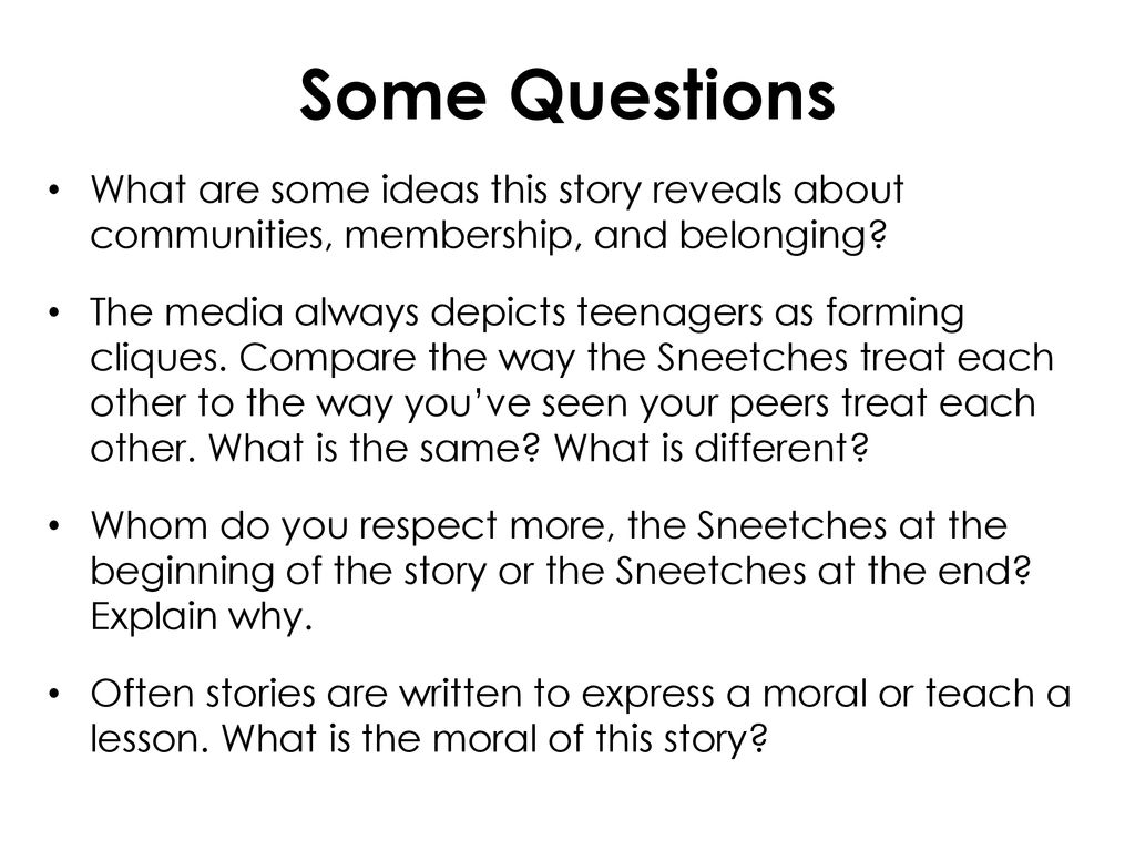 belonging story ideas