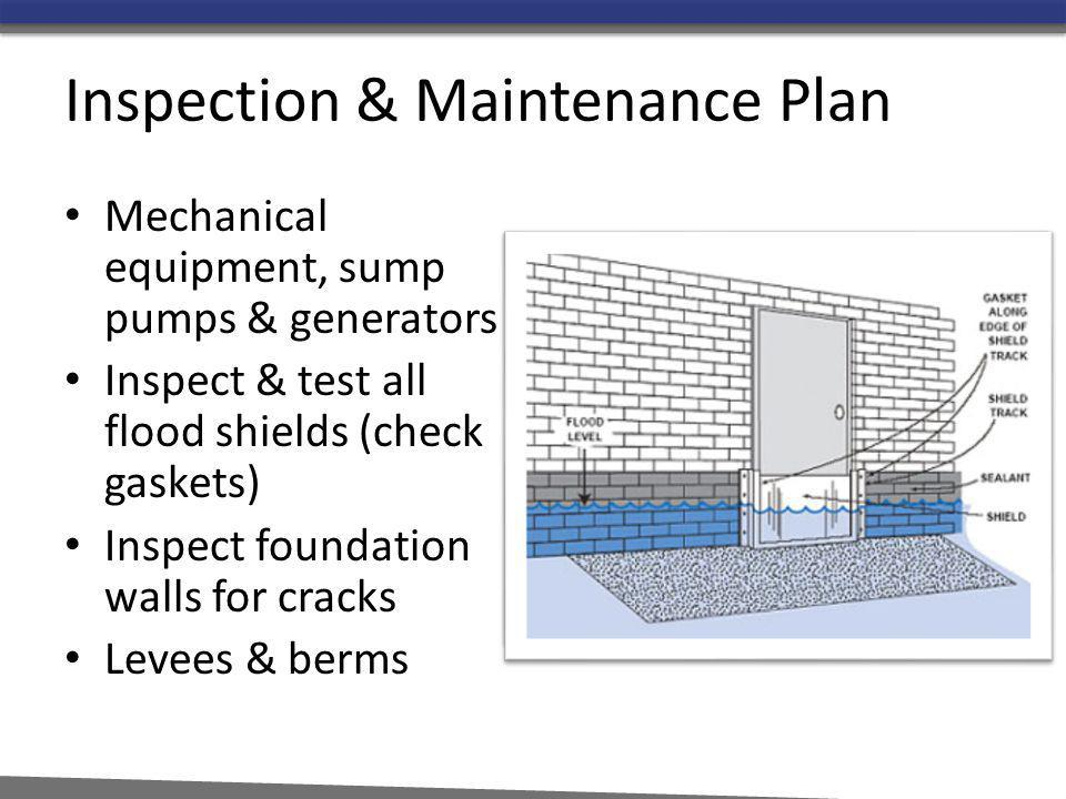 Inspection & Maintenance Plan