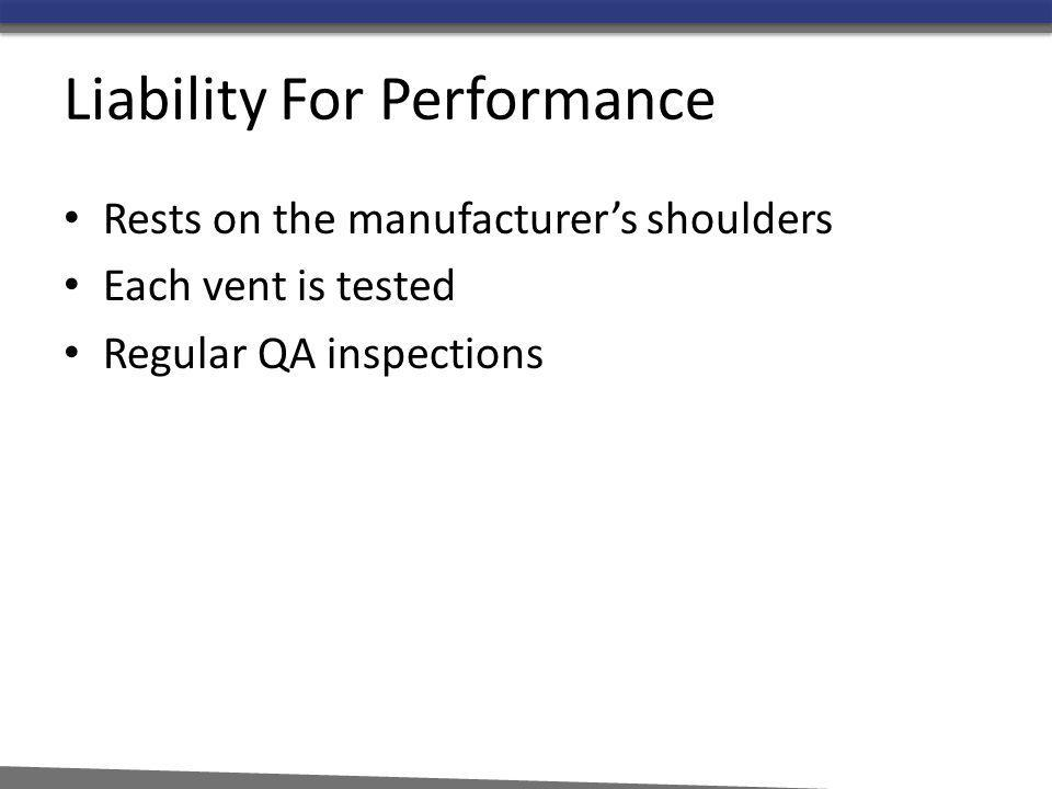 Liability For Performance