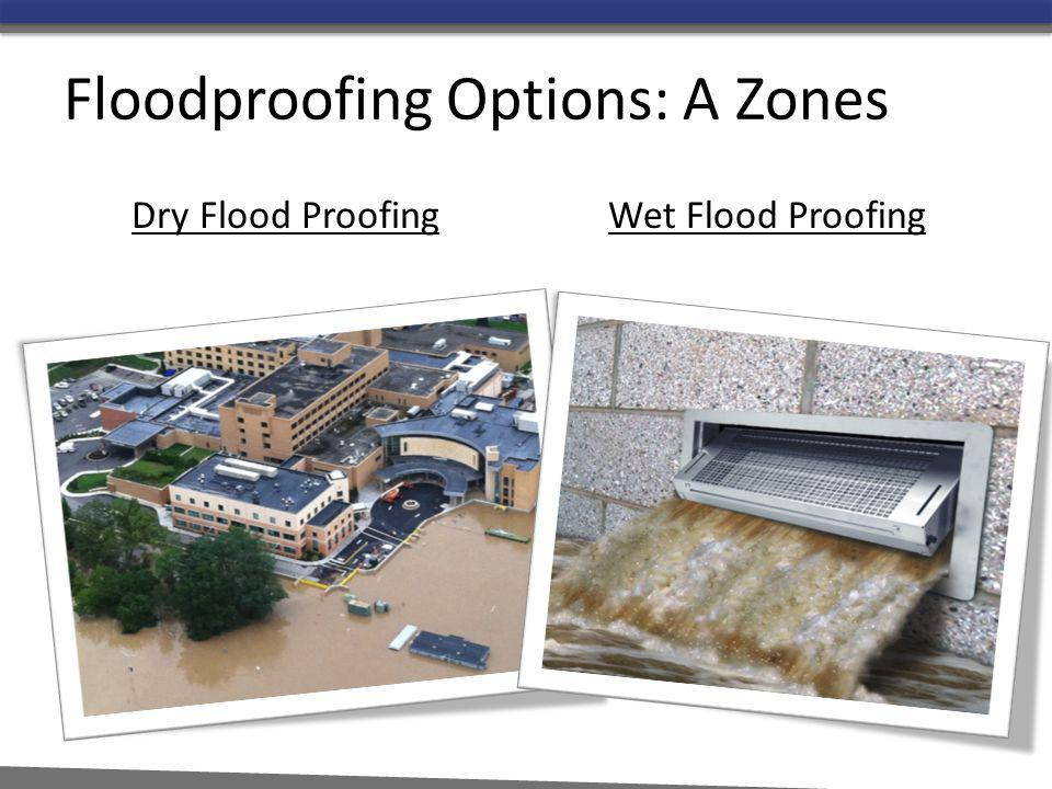 Floodproofing Options: A Zones