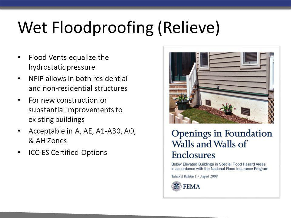 Wet Floodproofing (Relieve)