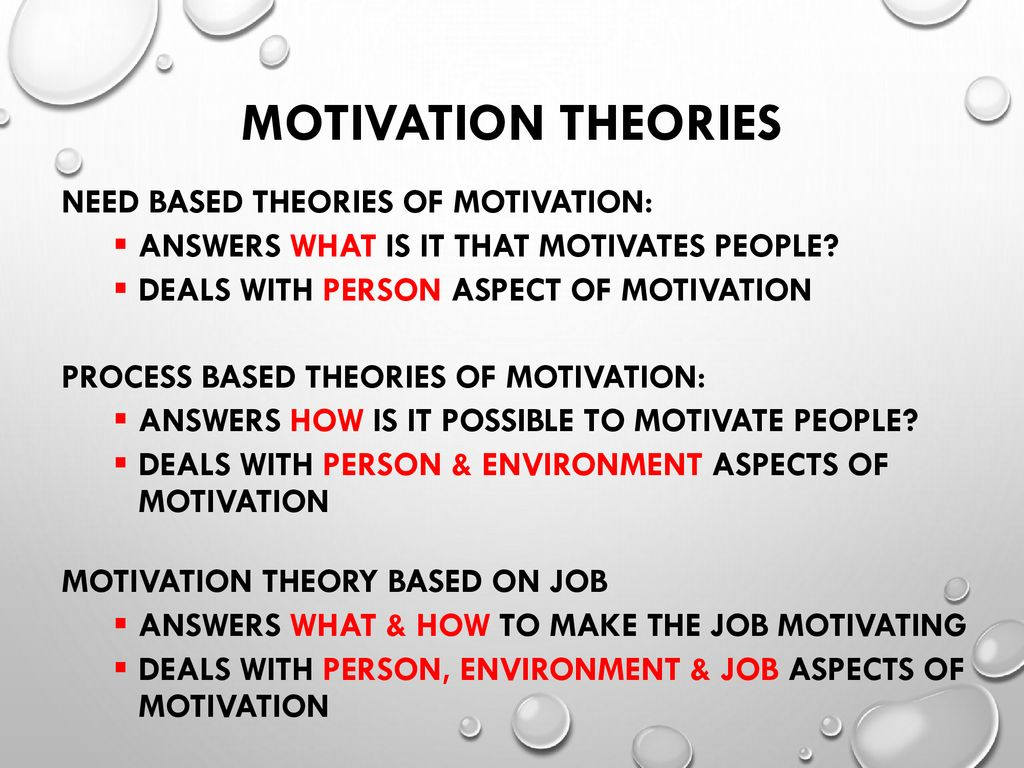 need based theory