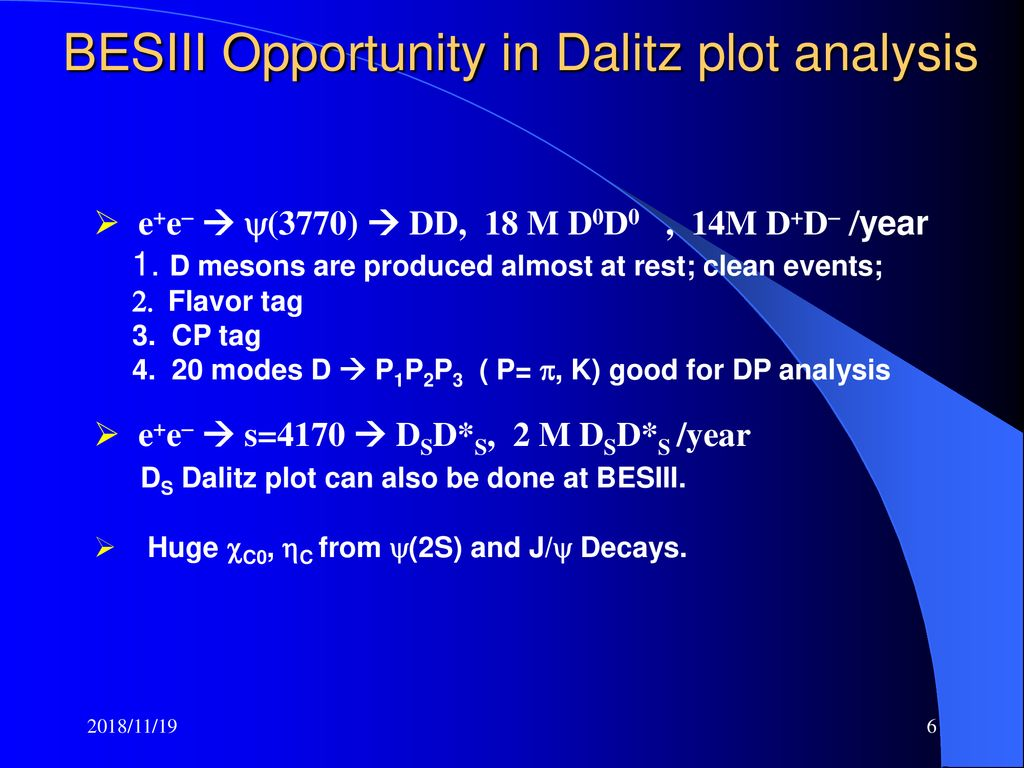 Dalitz plot analysis in D meson decays - ppt download