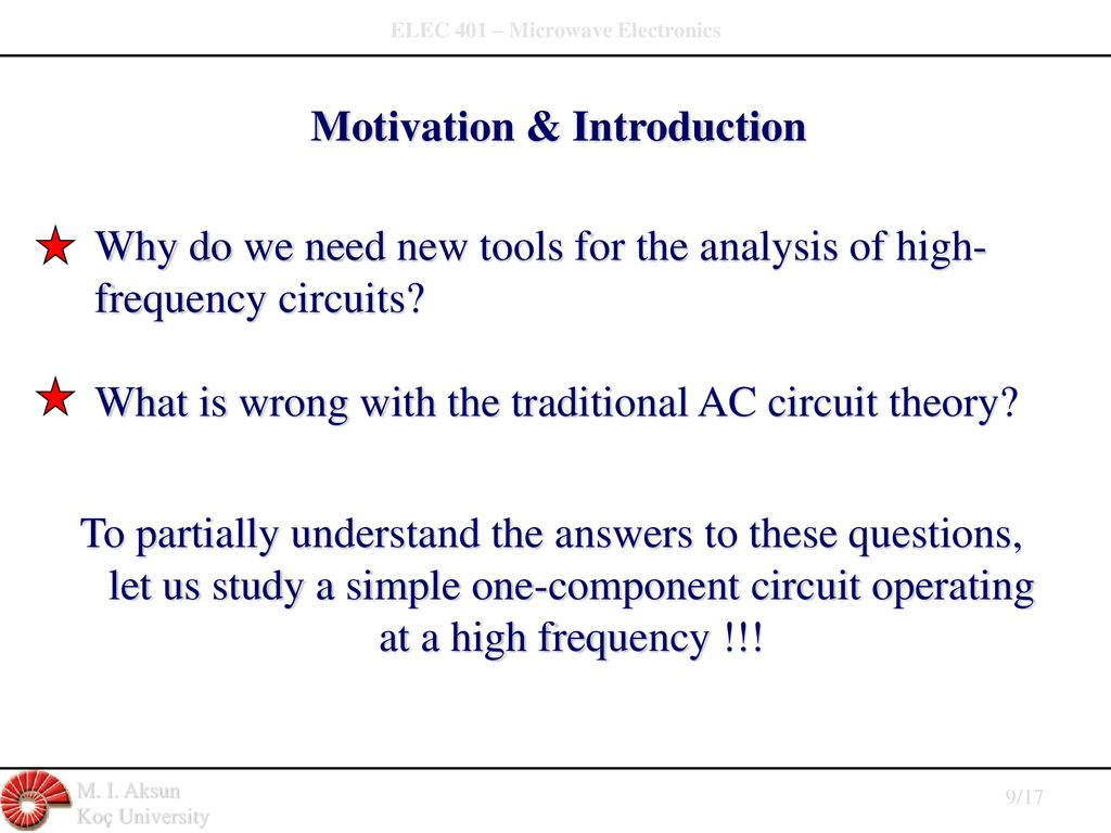 Elec 401 Microwave Electronics Ppt Download High Frequency Circuits 9 Motivation Introduction