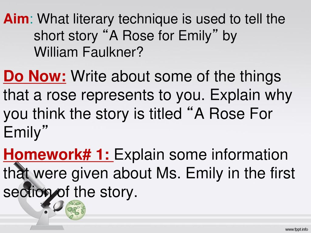 a rose for emily explanation