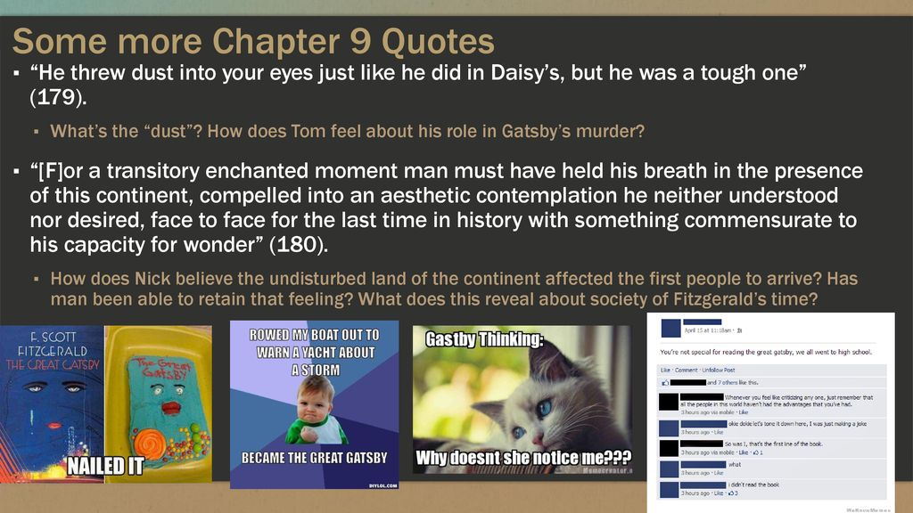 Gatsby 7 9 Gatsby To Tom Ppt Download