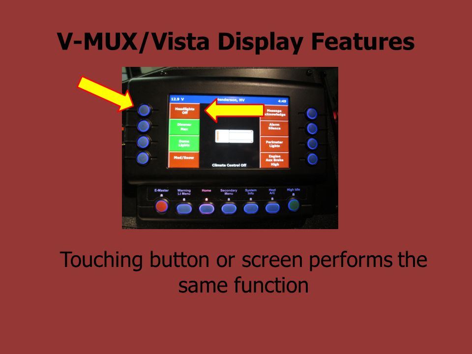 V-MUX/Vista Display Features