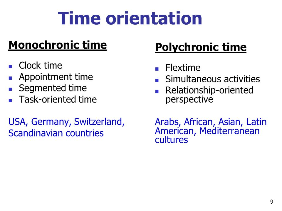 monochronic and polychronic