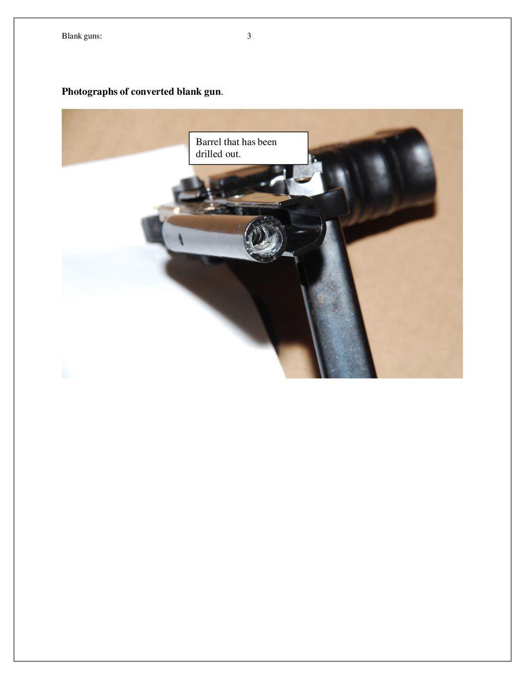 Rick Vasquez Firearms LLC Proliferation of Blank Guns that