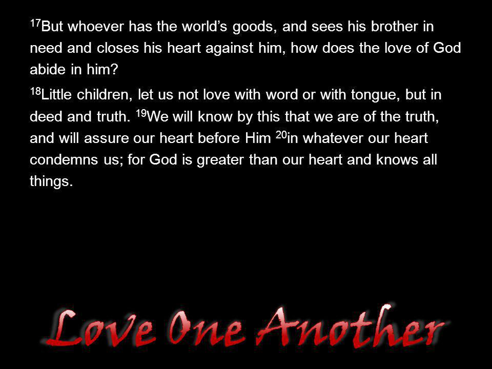 Love One Another But