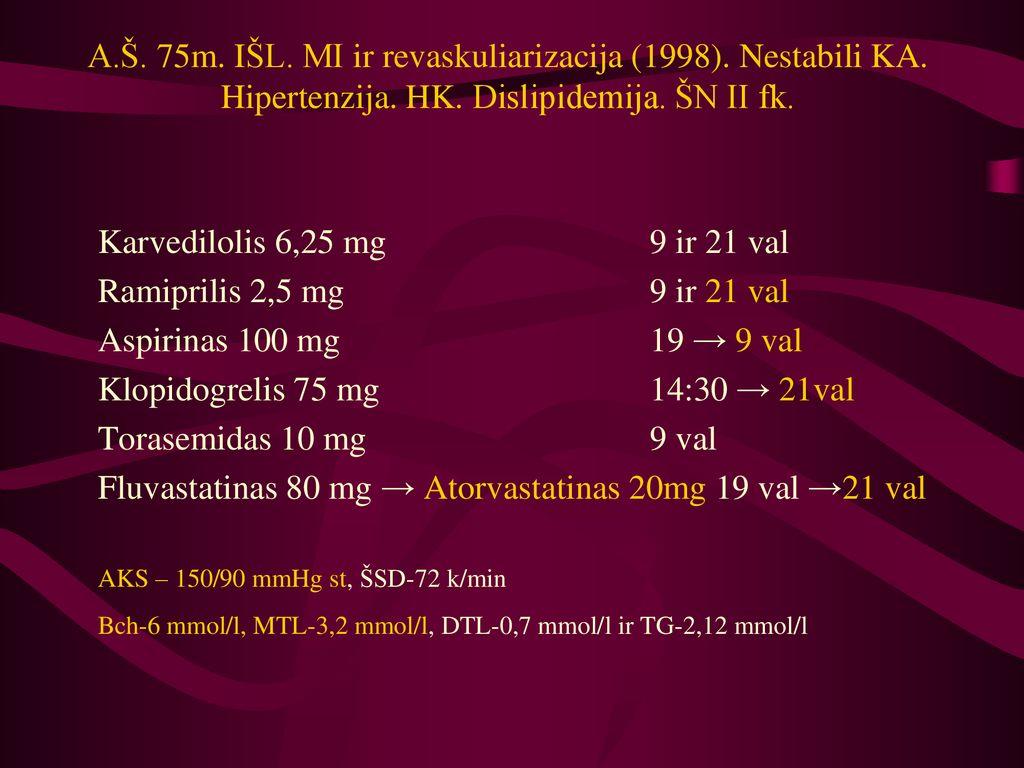 hipertenzija ir karvedilolis kuri yra blogesnė už 1 ar 2 laipsnio hipertenziją