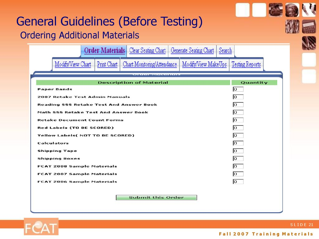 fall 2007 training materials ppt download