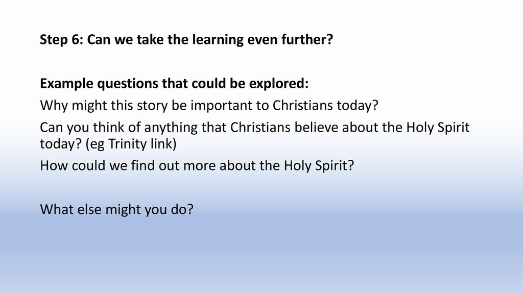 YEAR 1 A learning journey in the Diocesan 'Holy Spirit