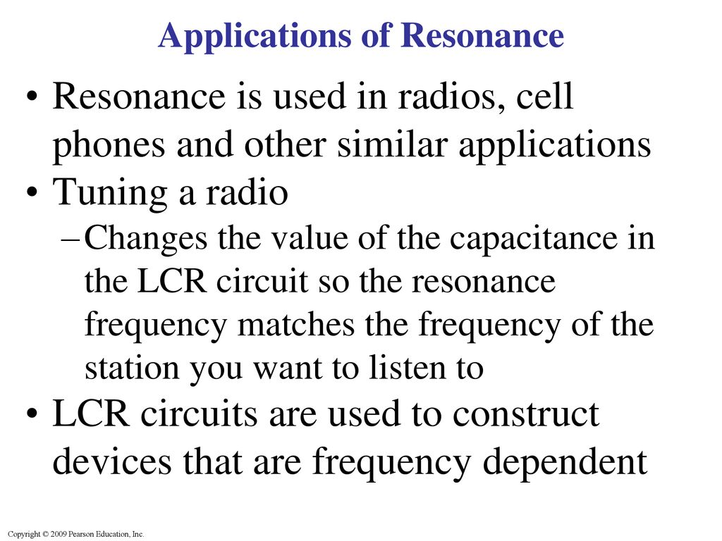 Ch 22 More On Ac Circuits Ppt Download Frequencydependent 12 Applications Of Resonance