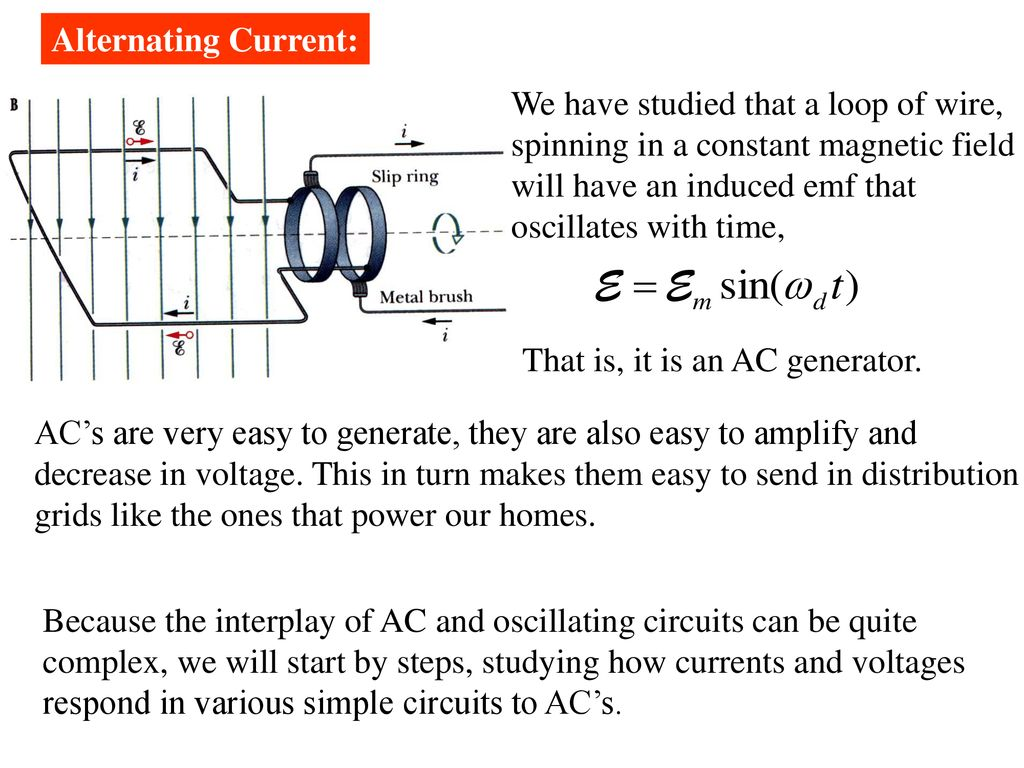 ch 3147 electrical oscillations lc circuits alternating