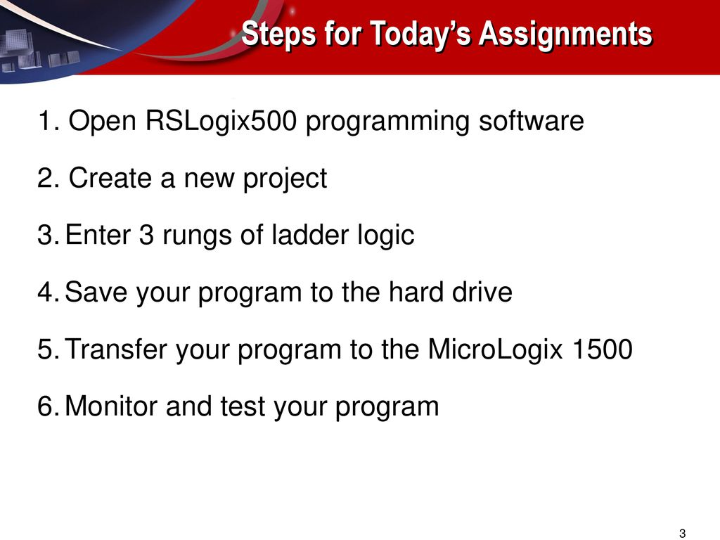 MicroEconomix 1500 RSLogix 500 LAB#1 - ppt download