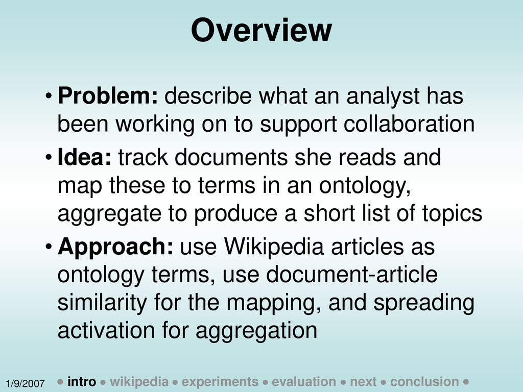 Wikitology Wikipedia as an Ontology - ppt download