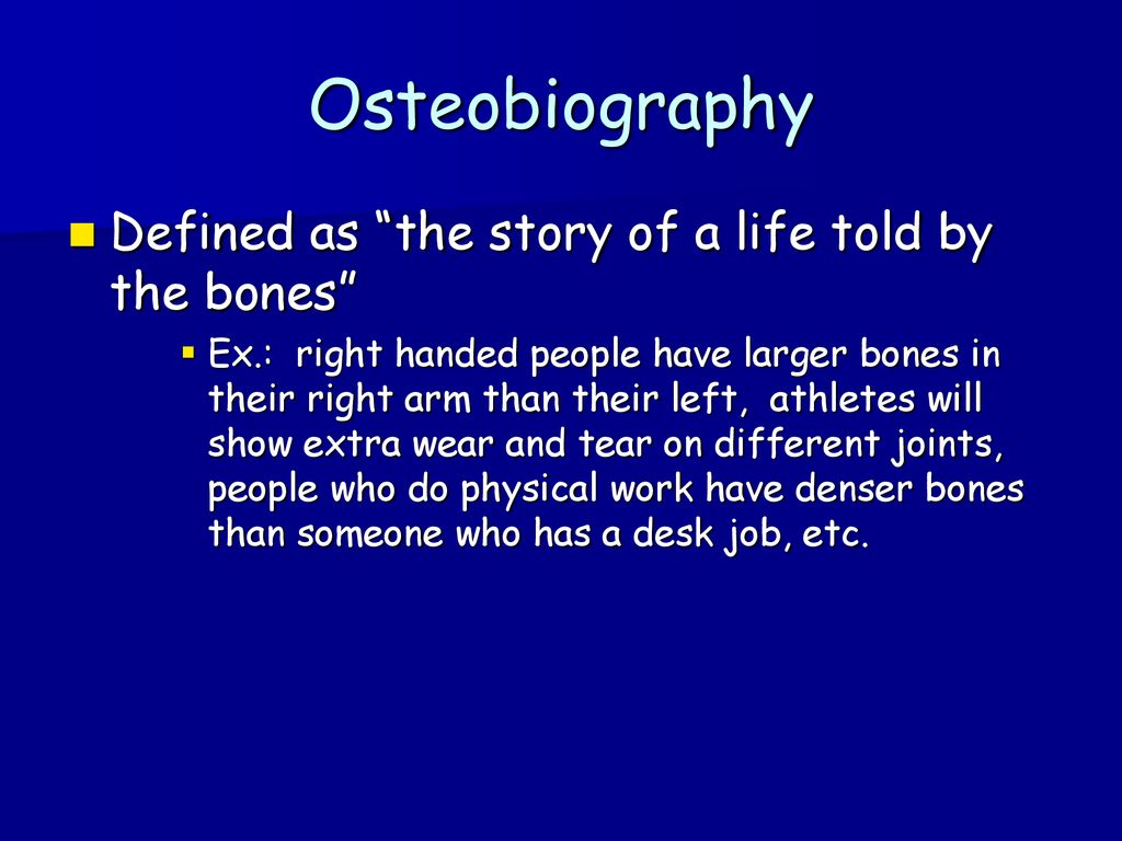 forensic anthropology: - ppt download