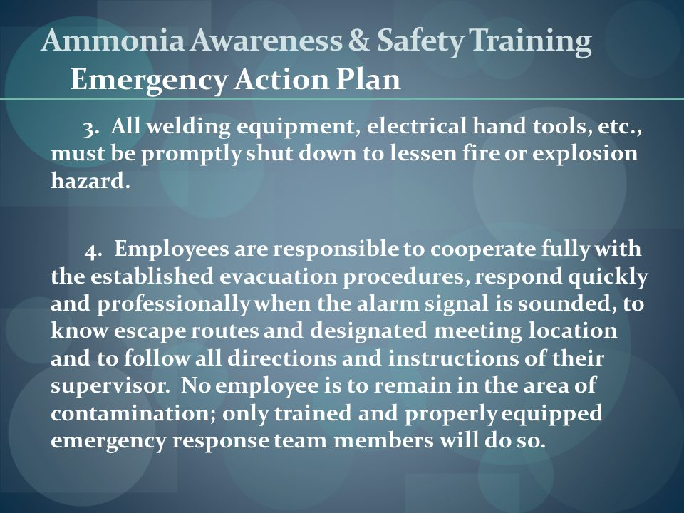 Ammonia Awareness & Safety Training - ppt video online download
