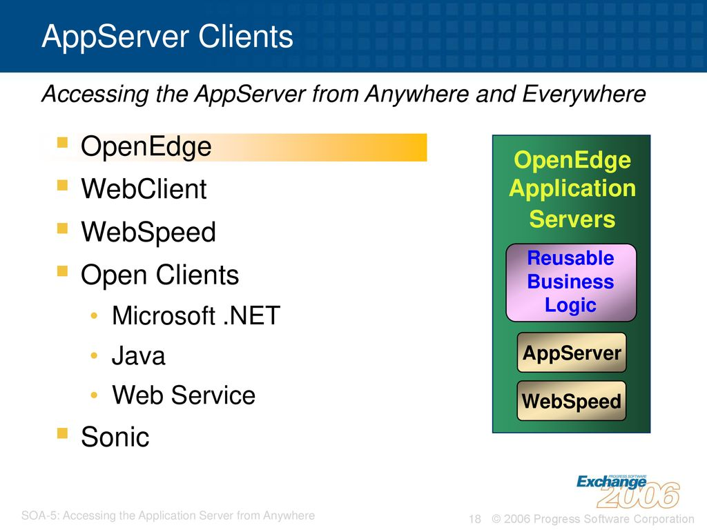 SOA-5: Accessing the Application Server® from Anywhere and