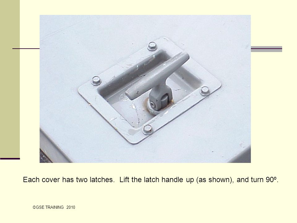 Each cover has two latches