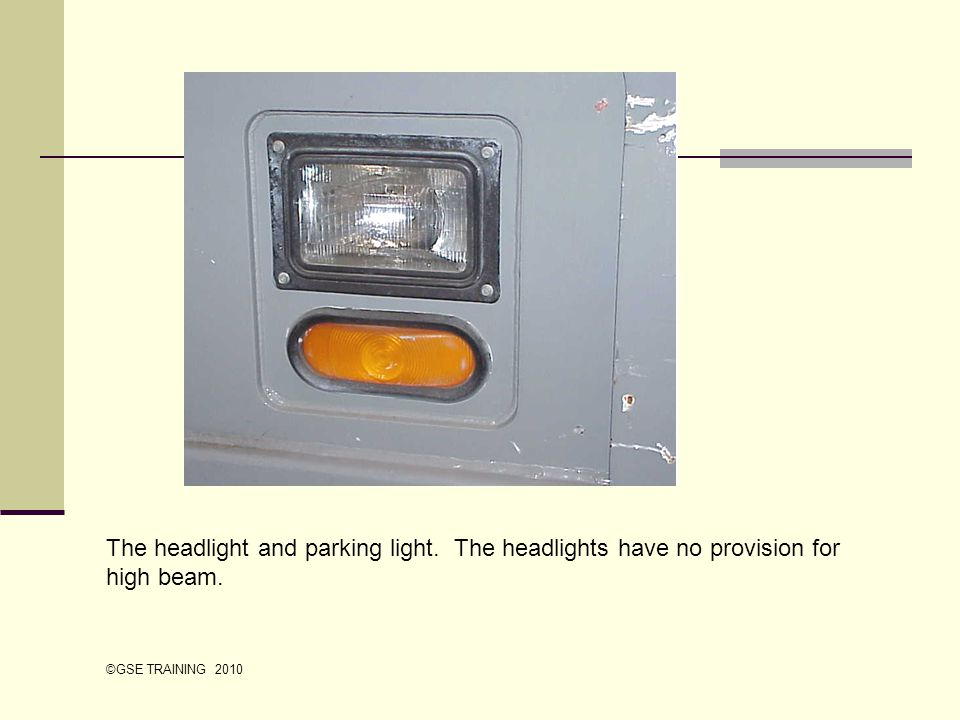 The headlight and parking light