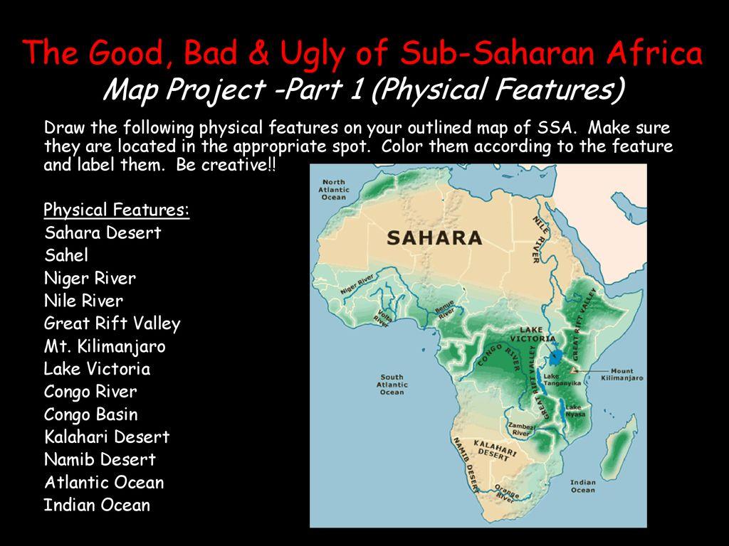 Sub Saharan Africa Map Kalahari Desert.Copy And Answer How Do Physical Features And Climates
