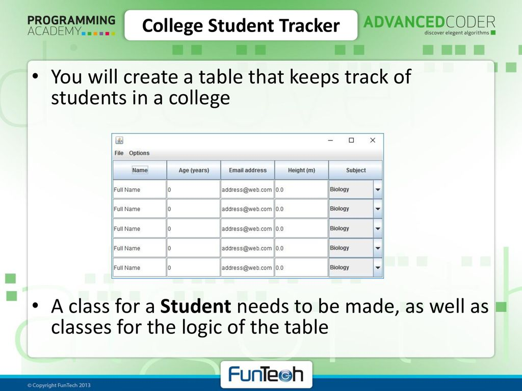 college student tracker ppt download
