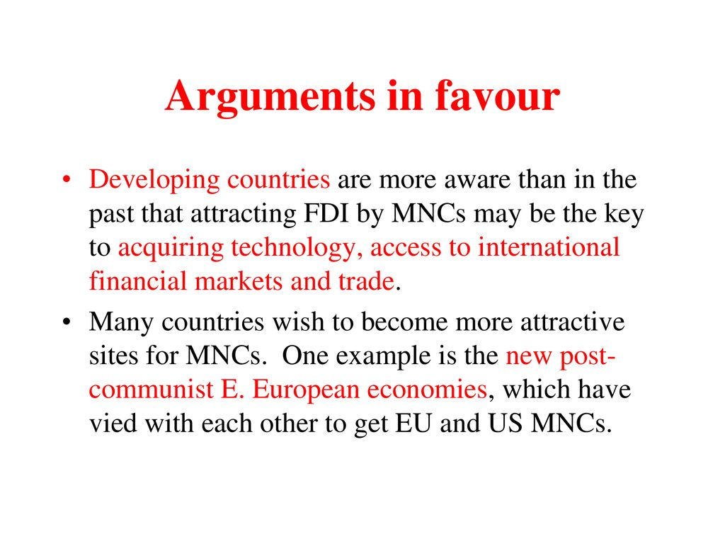 examples of mncs in developing countries