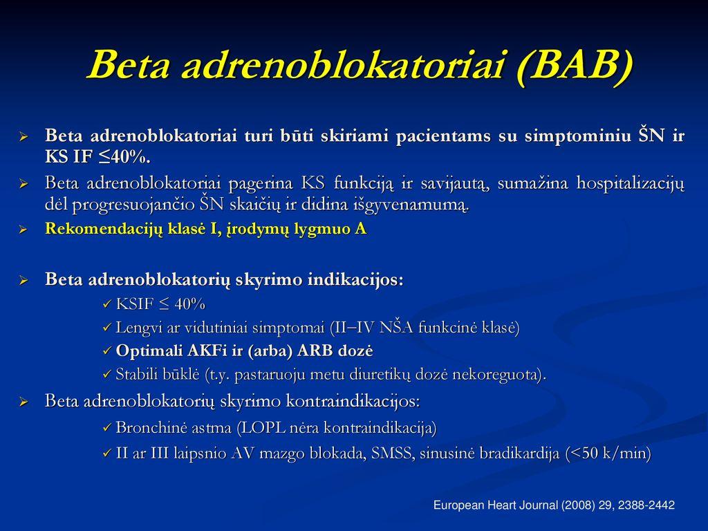 beta adrenoblokatoriai ir hipertenzija kaip patvirtinti hipertenzijos diagnozę