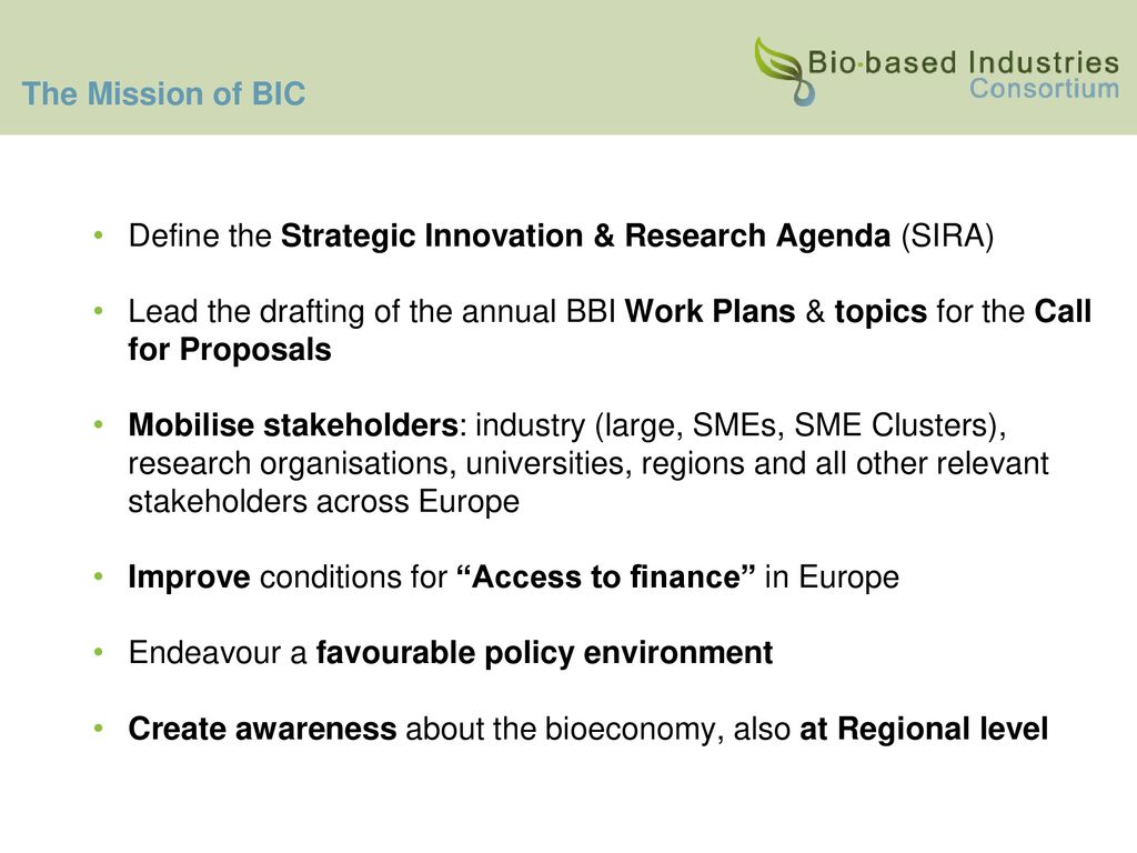 The Bio-Based Industries Consortium - ppt download