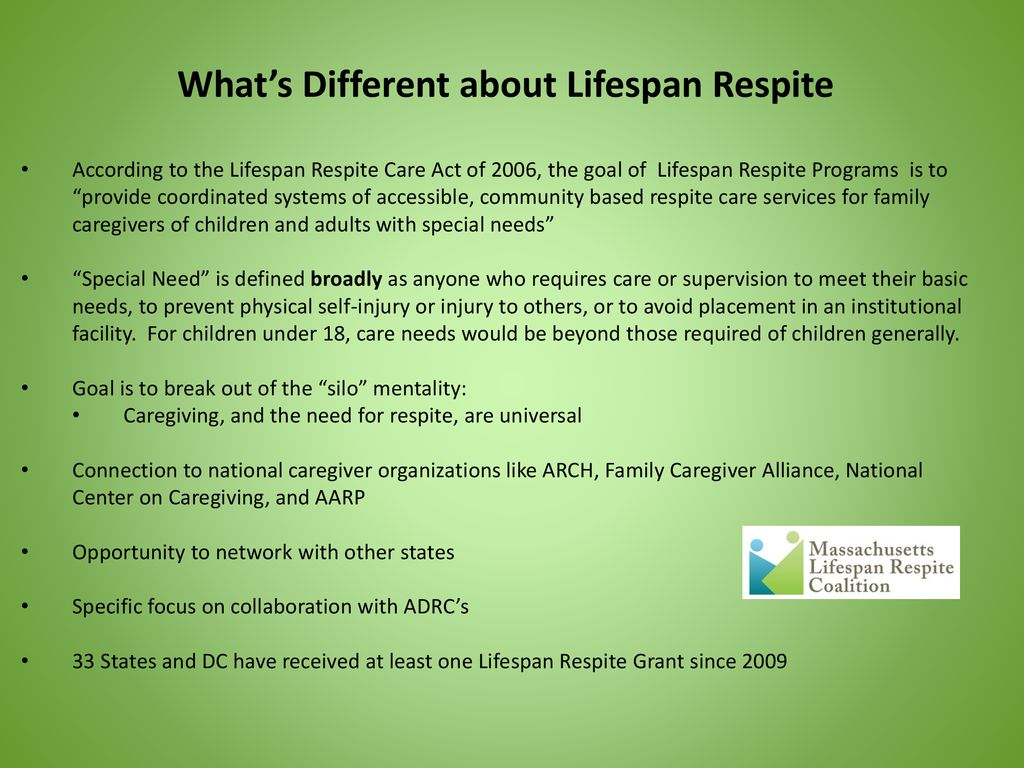 massachusetts lifespan respite summit - ppt download