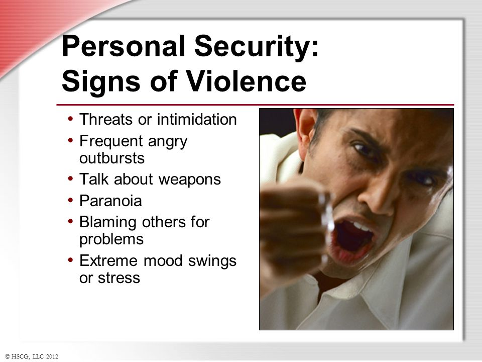 Personal Security: Signs of Violence