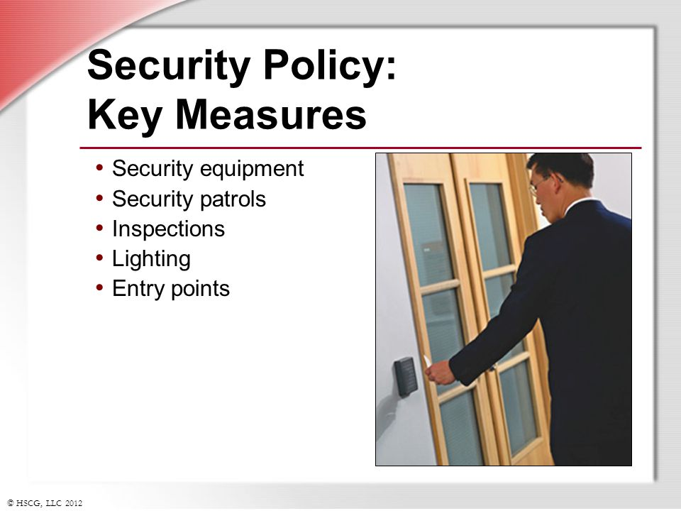 Security Policy: Key Measures