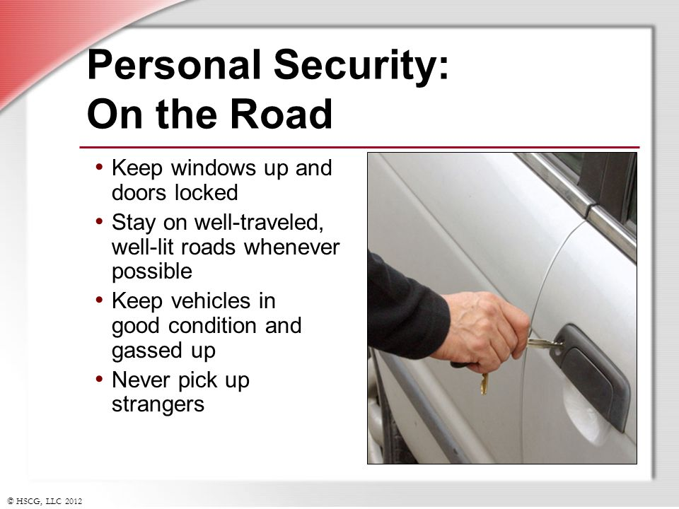 Personal Security: On the Road