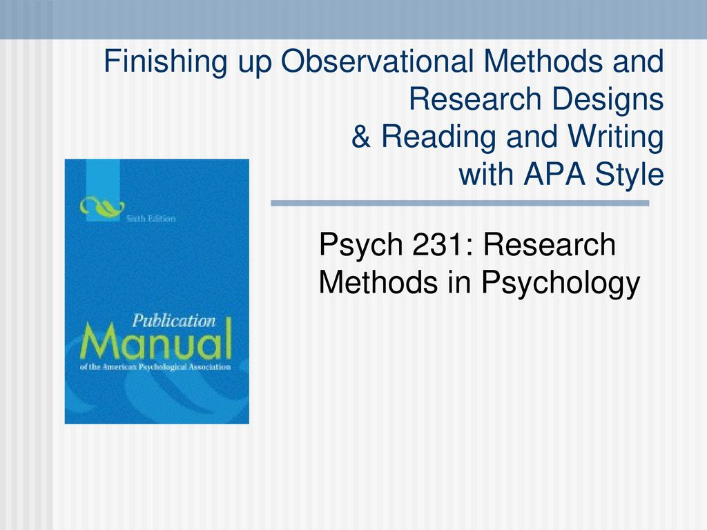 Psych 231: Research Methods in Psychology - ppt download