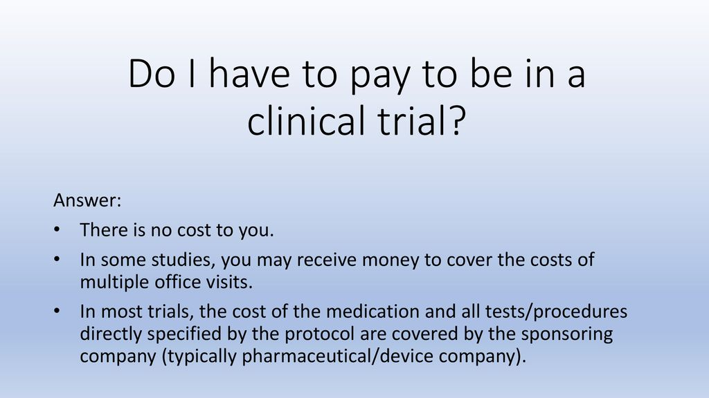 Is a Clinical Trial Right for Me? - ppt download