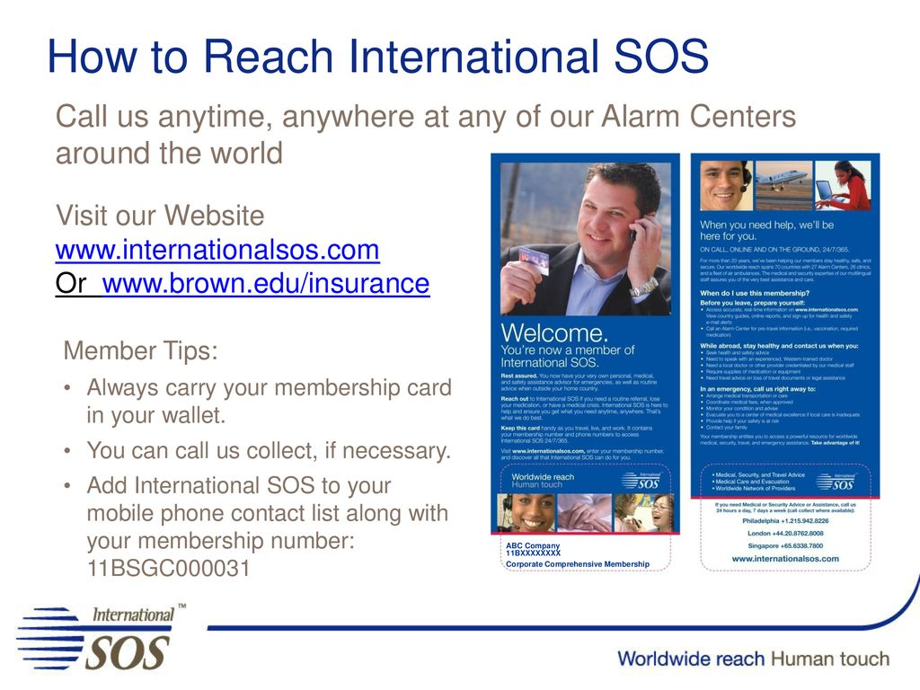 Welcome to International SOS - ppt download