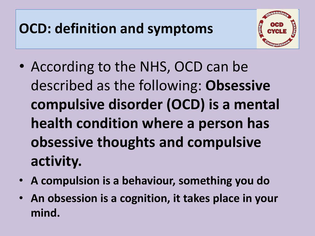 3 ocd: definition and symptoms