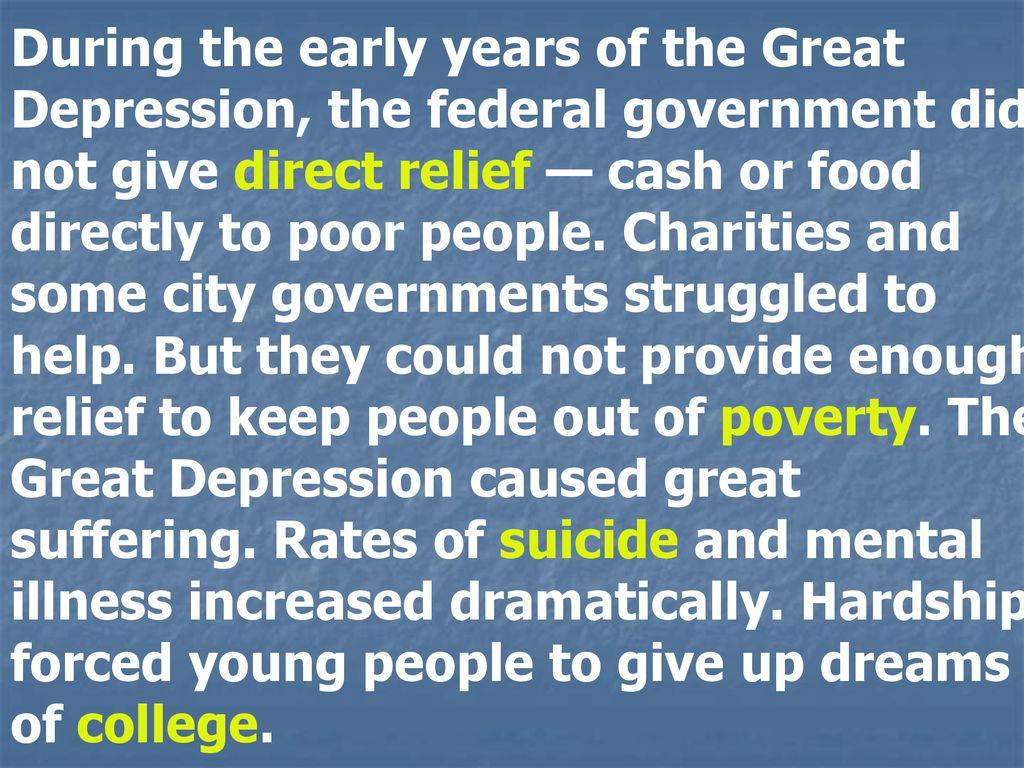 mental illness great depression