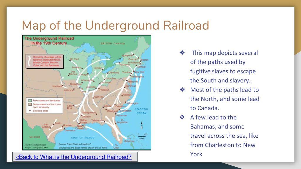Underground Railroad New York Map.Harriet Tubman Pioneers The Underground Railroad Ppt Download