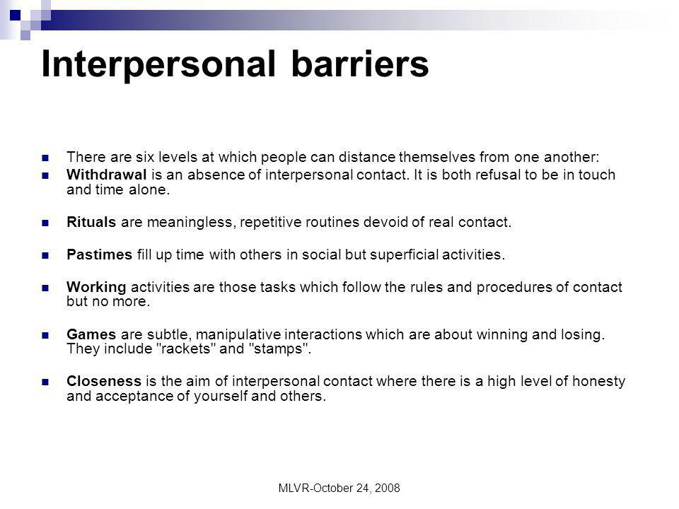 barriers to effective interpersonal relationships