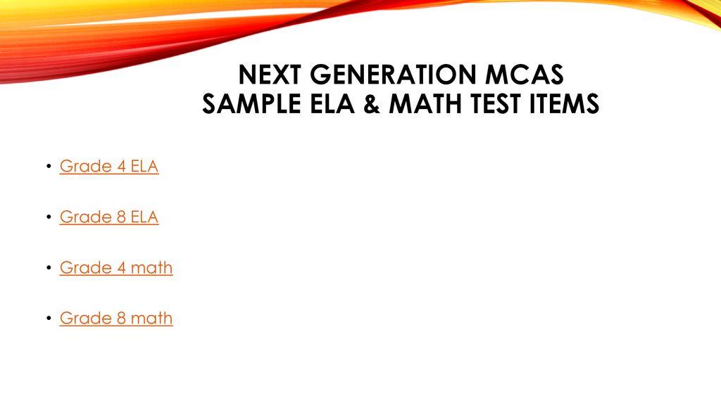 MCAS Parent Presentation - ppt download