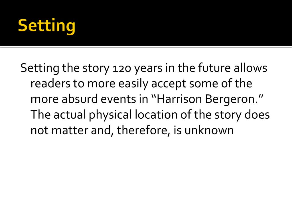 what is the moral of harrison bergeron